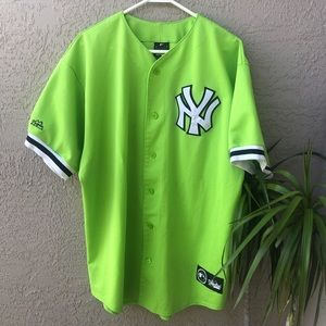 Majestic Neon Green New York Yankees Jersey